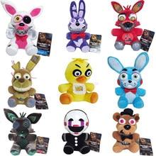Nueva llegada cinco noches en Freddy 4 FNAF juguetes de peluche 18cm Freddy oso de peluche Foxy Chica Bonnie juguetes de peluche muñeca regalos de los niños