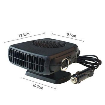 цена на Car Heater 12V Car Heating Fan Electric Cold Warming Fan Heated on Dashboard Defroster Demister Winter Summer Electric Heater