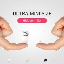 SQRMINI X20 سماعة أذن فردية لاسلكية صغيرة للغاية مخفية بلوتوث صغير 3 ساعات تشغيل الموسيقى زر التحكم في سماعة أذن مع علبة شحن
