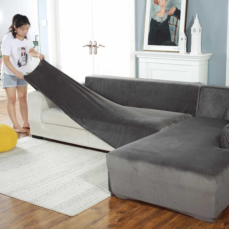 Dicke samt Sofa abdeckung Universal Couch Abdeckung Sofa Hussen Maschine Waschbar sitzbank abdeckungen für Haustiere Kinder hause wohnzimmer