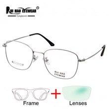 Özelleştirmek Reçete Gözlük Miyopi Gözlük Ilerici Gözlük Süper Hafif Titanyum Gözlük Çerçevesi Reçine Lensler