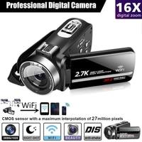 Cewaal WIFI Digital Camera Portable Night Vision Digital Camcorder HDMI 4K Photo Professional DSLR 2.7K Video Camera 16X