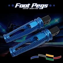 цена на For GSX-R600 Footpegs GSX-R750 GSXR 600 750 GSXR600 GSXR750 2006-2016 Motorcycle CNC Passenger Footrests Rear Foot Pegs Pedal