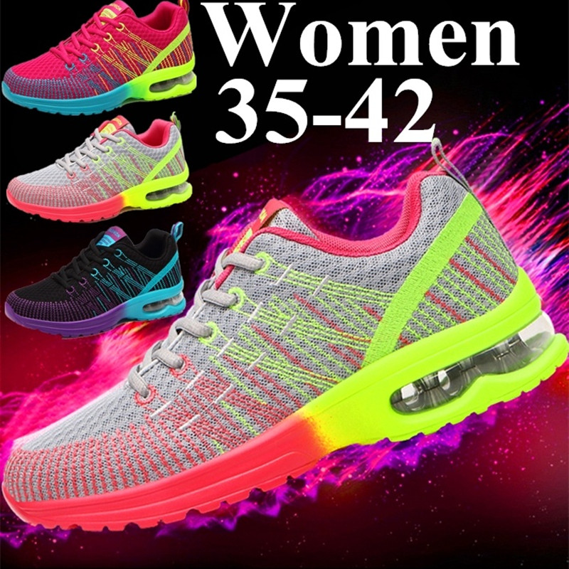Women's Casual Fashion Air Cushion Lightweight Training Shoes Mesh Breathable Sneakers