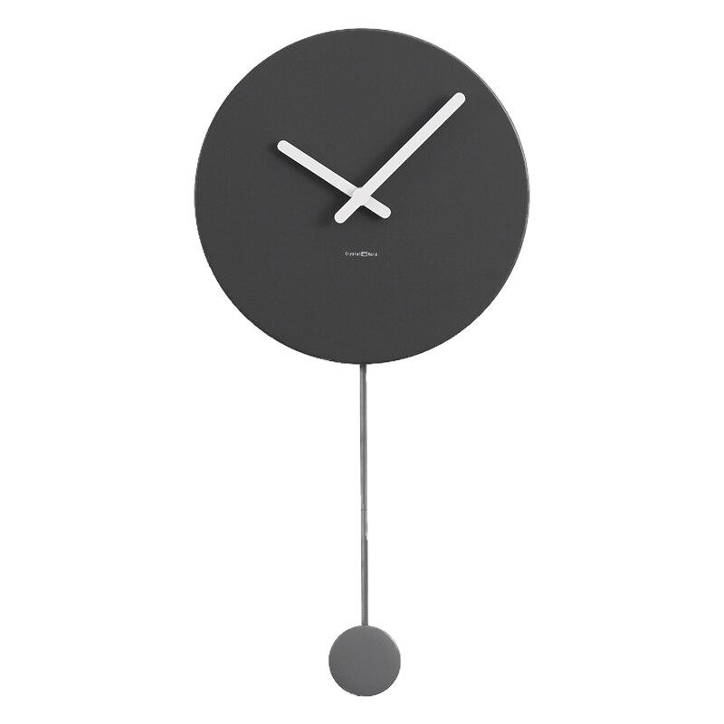 Reloj de pared moderno negro Simple, reloj de pared silencioso redondo para sala de estar, reloj de pared de madera con Péndulo, reloj Mural de moda para el hogar MM60WC Tabla Periódica de elementos, arte de pared, símbolos químicos, reloj de pared, pantalla educativa, elemento, reloj de aula, regalo de maestro