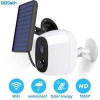 DIDseth 1080P zewnętrzna kamera solarna Wifi bezprzewodowa bateria IP kamera PIR czujnik ruchu bezpieczeństwo nadzór wideo