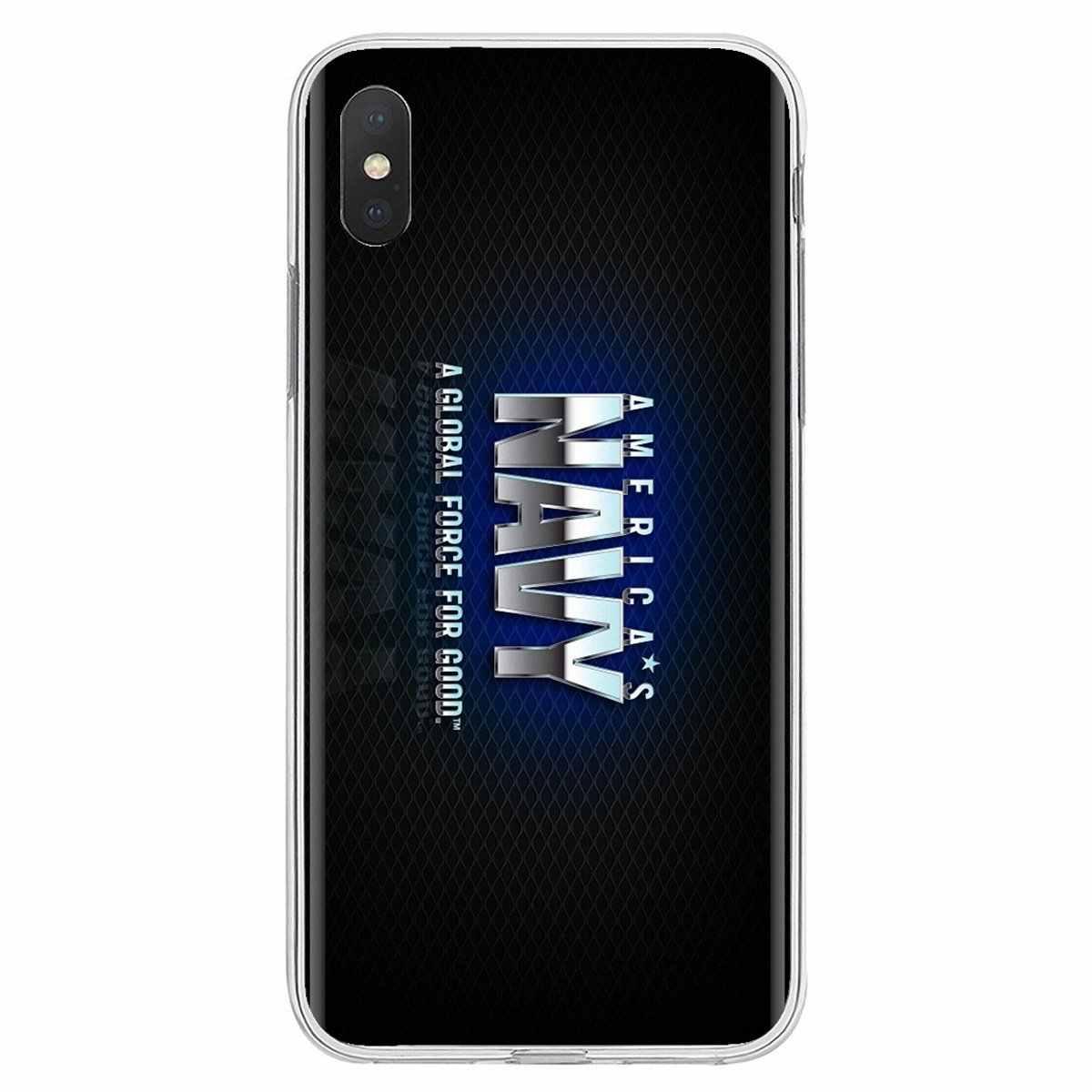 Usnavy 인감 팀 로고 포스터 for iphone 11 pro 4 4 s 5 5 s se 5c 6 6 s 7 8 x xr xs plus max for ipod touch 소프트 실리콘 tpu 케이스