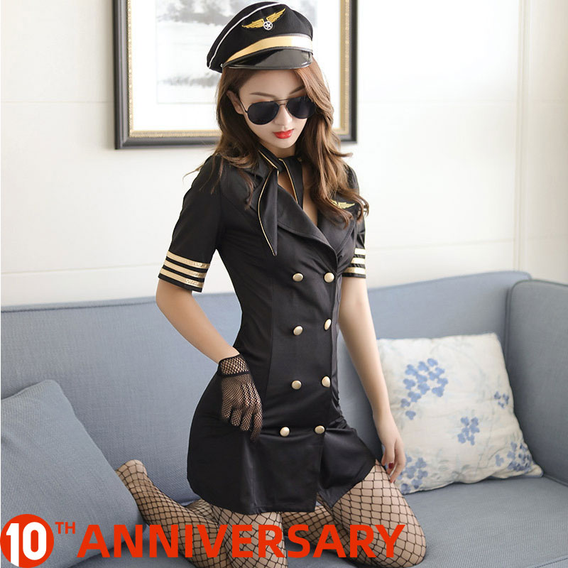 Stewardess Uniform Erotic Temptation Sexy Flight Attendant Costume Sex Cosplay Sexy Uniform Sexy Police Japanese Lingerie Play