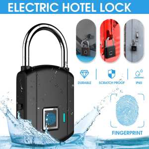 Padlocks Fingerprint Smart Keyless Thumbprint-Door Biometric Quick-Unlock USB Portable