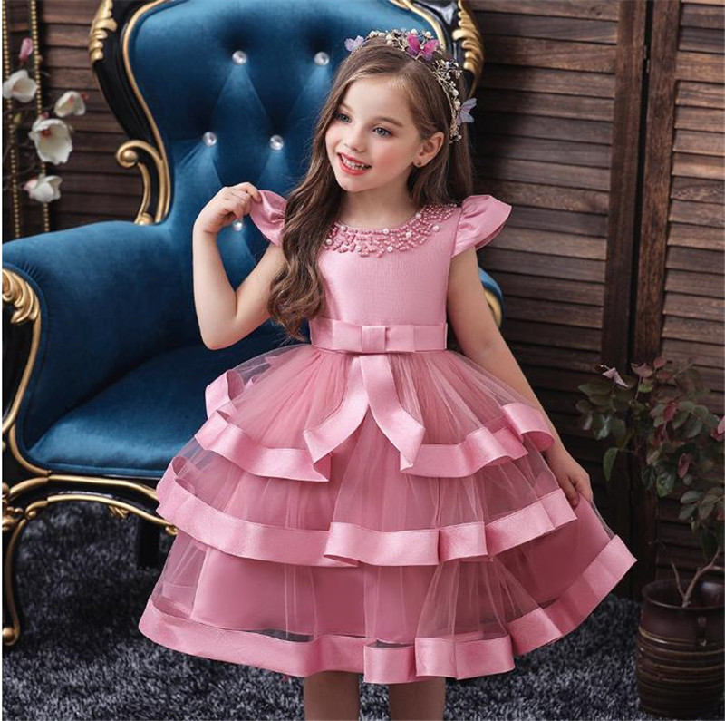 SexeMara Christmas Dress For Girls Costume Kids Dresses Little Princess Children Evening Gown Party Dress 3 4 5 6 7 8 Year