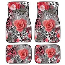 car floor mats case for ford escape kuga maverick 2015 customized auto 3d carpets custom fit foot liner mat car rugs black INSTANTARTS Leopard Rose Auto Floor Mats Set of 4 Custom Front and Rear Non Slip Carpet Rugs Floor Mats for Car Washable Carpets