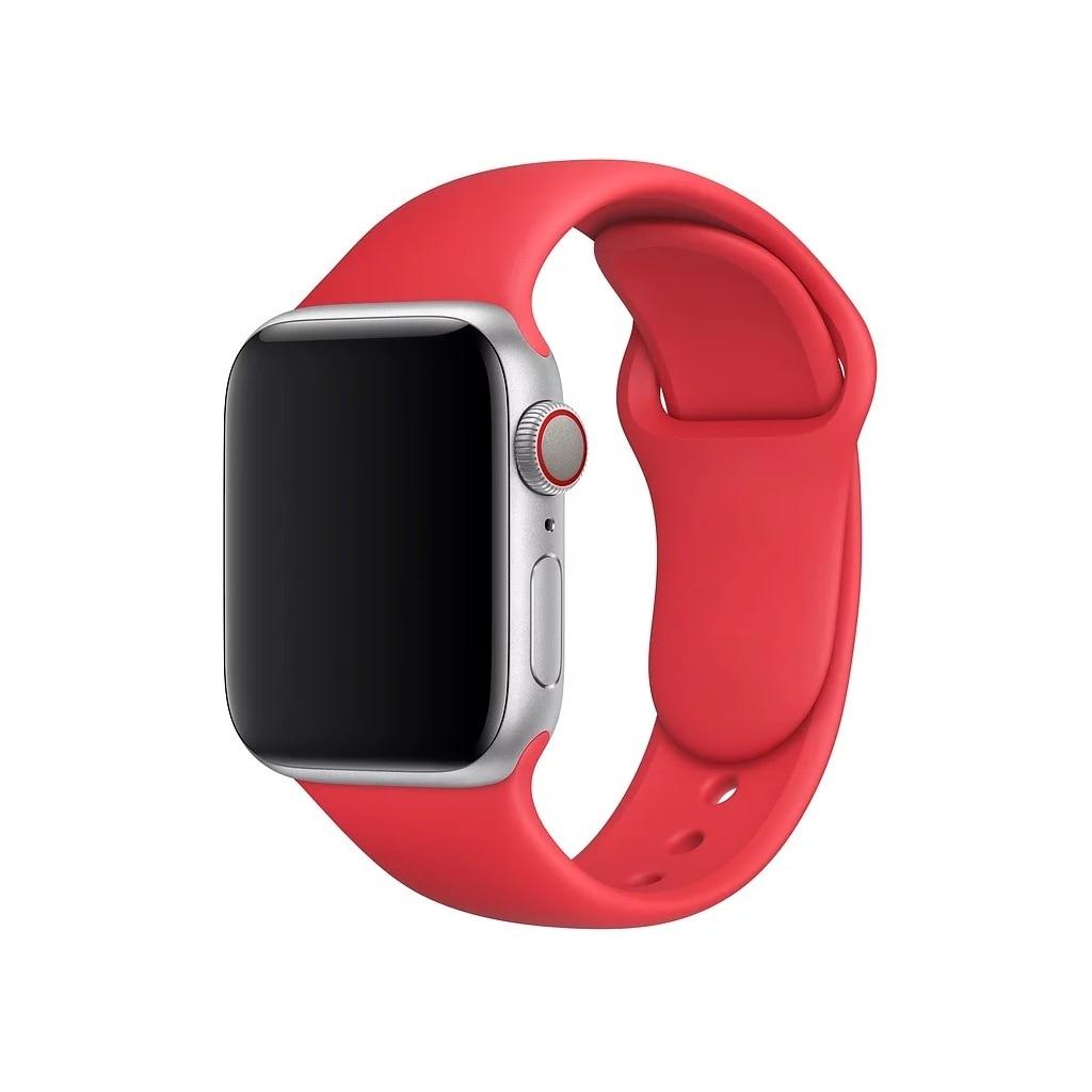 Bracelet pour montre Apple 42mm bracelet Sport rouge