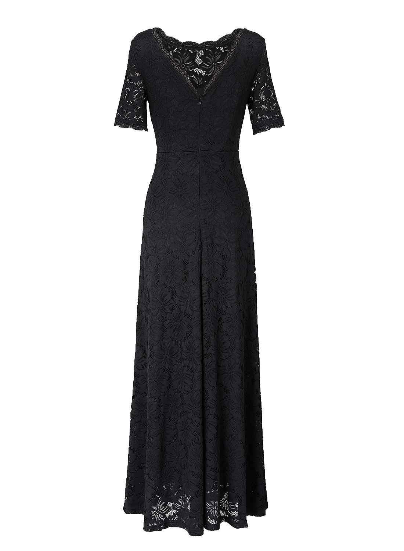 Женское платье макси Vfemage, элегантное кружевное платье  с цветочным узором, из просвечивающегося материала, для важных мероприятий, на свадьбу, вечеринку, 391