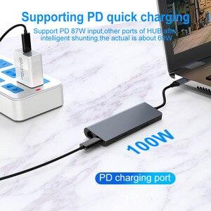 Image 5 - FSU USB C HUB Mit HDMI RJ45 PD Ladegerät Kartenleser USB 3,0 Adapter USB HUB Für Macbook Pro Zubehör multi USB 3,0 Typ C HUB