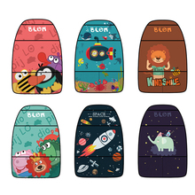 Waterproof Cartoon Seat Cover Kid Cute Car Seat Back Cover Protector for Kids Children's Anti-Kick Mat Touch Screen Storage Bag