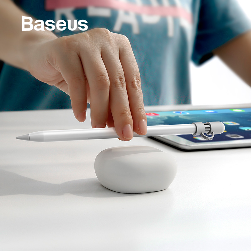 Baseus Desktop Habitat For Apple Pencil Magic Wand Soft Silicone Case Anti-Lost Protective Holder For IPad Pro Pencil Touch Pen
