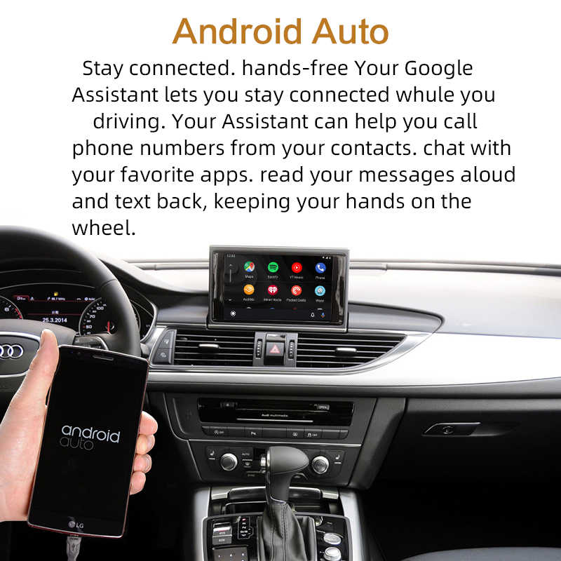 2020 inalámbrico Apple CarPlay para Audi A1 A3 A4 A5 A6 A7 A8 Q2 Q3 Q5 Q7 MMI coche jugar Android Auto espejo Cámara inversa