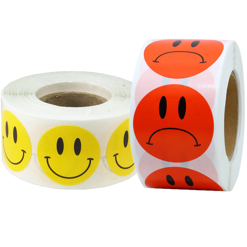 Smiley Happy Face Cute Stickers Kawaii Labels Smiling Sad Stationery Sticker For Teacher And Student Reward Encouragement