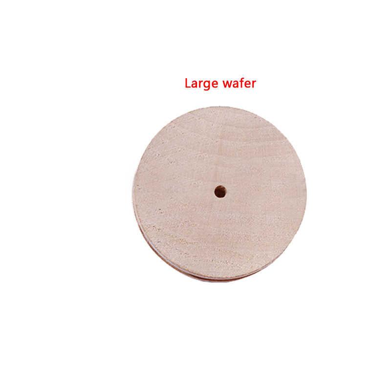 Multi-Größe Holz Slicker Leder Massivholz Runde Polieren Rand für Poliert Rand Leder Handwerk Arbeits Werkzeug