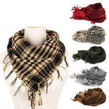 Military Arab Keffiyeh Shemagh Scarf Hiking Desert Army Cotton Shawl Neck Cover Windproof Scarves For Men Women