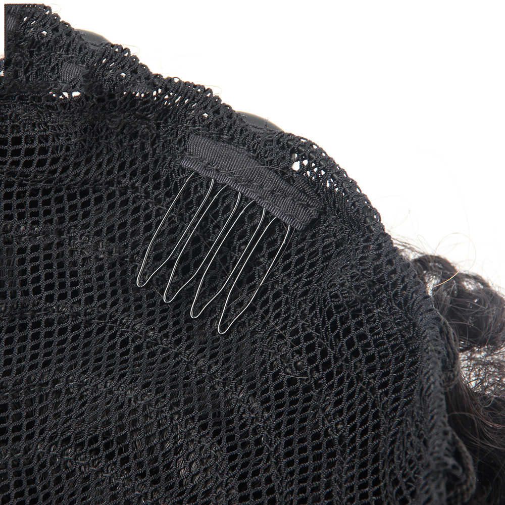 Braziliaanse Paardenstaart Menselijk Haar Mongoolse Afro Kinky Krullend Paardenstaart Remy 4B 4C Clip In Extensions Natuurlijk Haar Bundels Zwart Haar