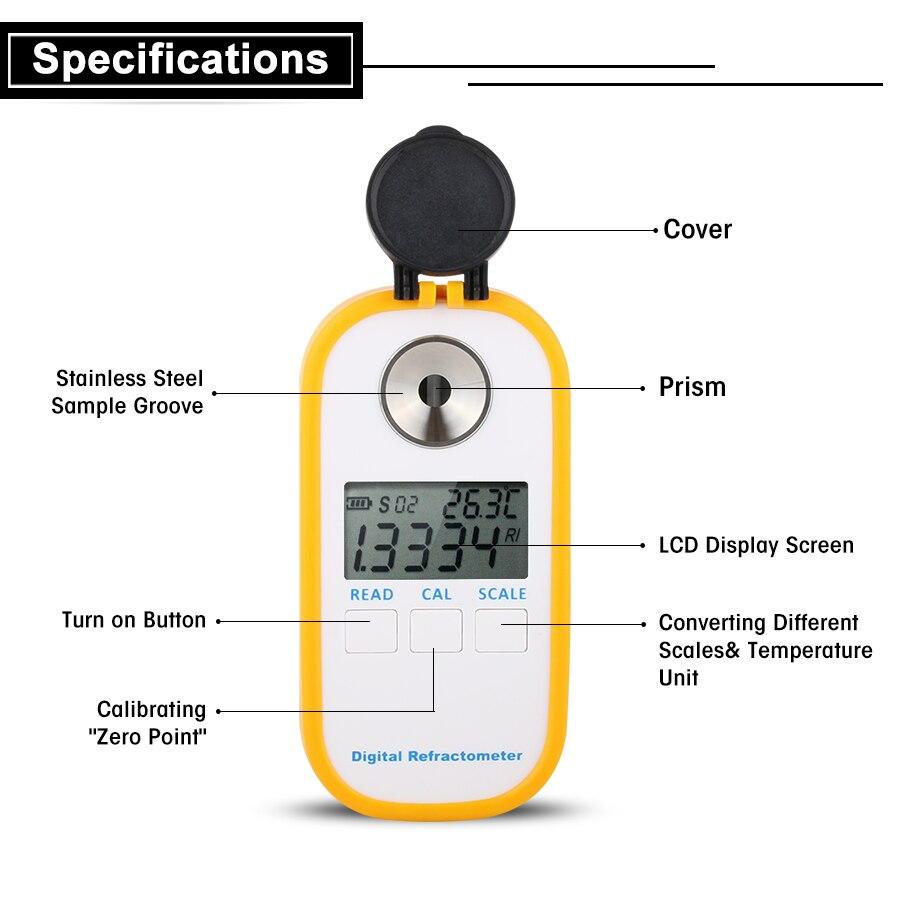 Automotivo-2 Congelamento Refratômetro Refratômetro Bateria Mais Limpo