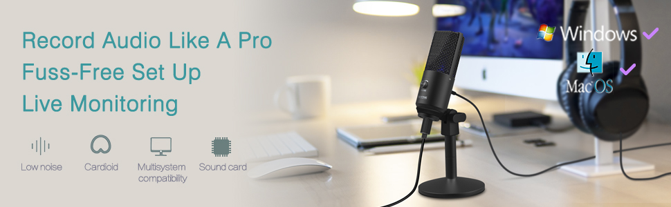 FIFINE Uni-Directional USB Microphone 11