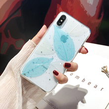 Qianliyao Real leaf phone Case For iphone