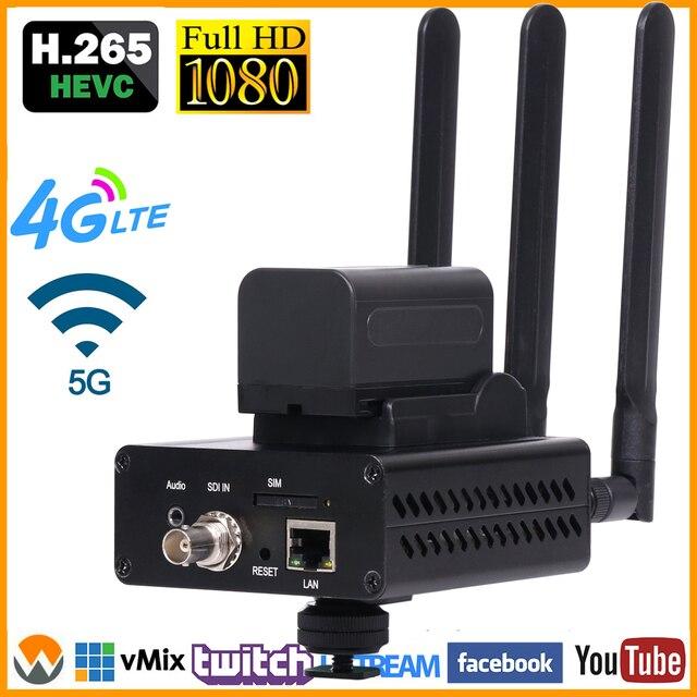 4G LTE SD HD SDIสตรีมมิ่งIP Encoder 3G SDI To IP Encoder RTMP RTSP SRT RTMPS EncoderสำหรับLive Streaming Server HD SDI Over IP