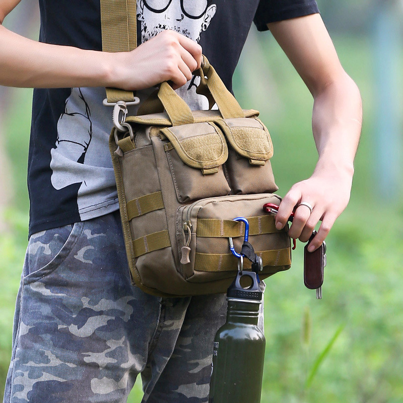 Bone Frog Shoulder Bag Hiking Sports Backpack Fashion Army Fans Backpack Casual Single-shoulder Bag