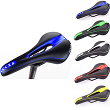 Hollow Bike Saddle Silicone Cushion Cycling Seat PU Leather Surface Silica Filled Gel TimeTrial Comfortable Shockproof Bicycle west biking bike saddle silicone cushion pu leather surface silica filled gel comfortable cycling seat shockproof bicycle saddle