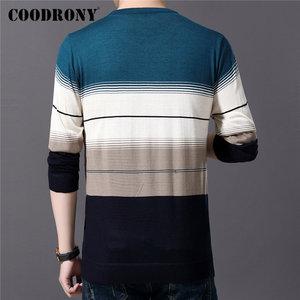 Image 3 - COODRONY ยี่ห้อเสื้อกันหนาวผู้ชาย Casual O Neck Pull Homme ผ้าฝ้ายเสื้อกันหนาวฤดูใบไม้ร่วงฤดูหนาวแฟชั่นลายจัมเปอร์เสื้อกันหนาว 91082