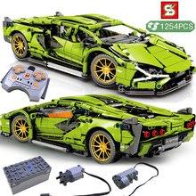 High-tech especialista esporte carro blocos de construção amigos criador campeões modelo de veículo tijolos brinquedos presente de aniversário para meninos