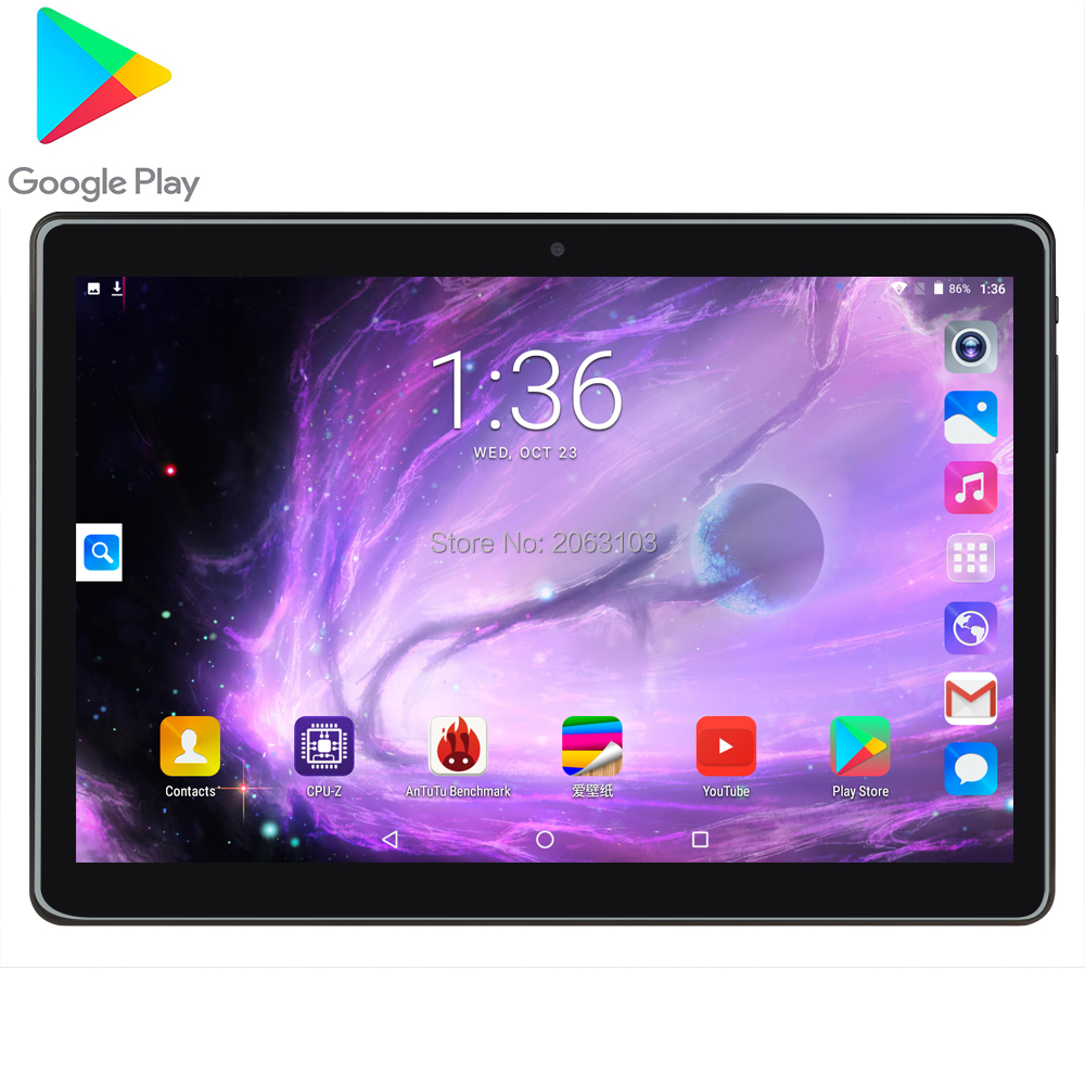 2020 T100 Google Android 7.0 OS 10 Inch Tablet 3G Quad Core 2GB RAM 32GB ROM 1280*800 IPS Kids Gift Tablets 10 10.1