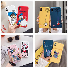 Soft Cartoon Case For iPhone XR X Xs 11 Pro Max Phone Case For iPhone 7 8 6 s 6s Plus Cute Stitch Back Cover Candy Cases Coque цена и фото