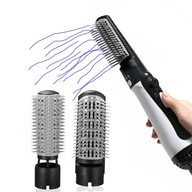 hair dryer Curling Hair 2 In 1 Brush Hot Air Styler Comb Curling Iron Roll Styling Brush Hair Dryer Blow With Nozzles SU404