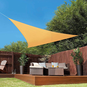Image 3 - Toldo à prova dágua para área externa, guarda sol triangular, com proteção para o sol, copa, jardim, pátio, sombra, vela, acampamento, piquenique, grande