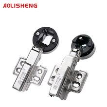 AOLISHENG Glass Door Damping Hydraulic Buffer Hinge Hinge Aluminum Alloy Door Frame Cabinet Door Pipe Hinge Hinge