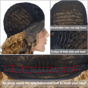 Image 3 - S noilite 28inch Long Ombre Lace Front Wig 4*0.6 deep lace synthetic lace front wig free parting body wave wig for black women