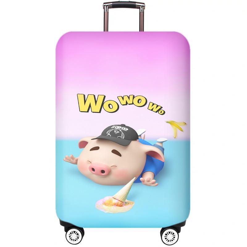 WAOWAO multicolor hardside luggage 28 inch