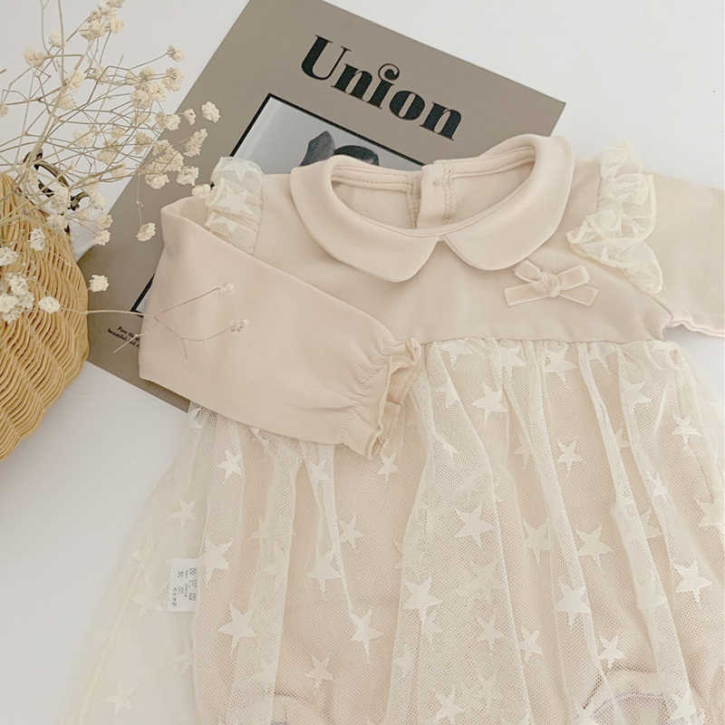 Sodawn New Cute Baby Girl Dress Autumn Toddler Baby New Year Party Princess Dress Birthday Baptism Costume Infant Clothes