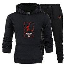 Conjunto de dos piezas sudaderas con capucha de moda ropa deportiva para hombres Sudadera con capucha 2019 nuevo otoño ropa de marca para hombres sudaderas + conjuntos de pantalones