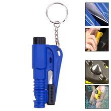 OcioDual инструмент de Rescue Seguridad ломает кристаллы корта ремень Свисток синие пояса автомобили аварийный для брелок