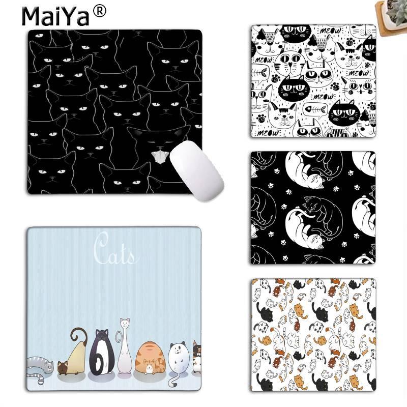 MaiYa Custom Skin Cats black and white gamer play mats Mousepad Top Selling Wholesale Gaming Pad mouse