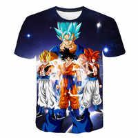 2019 Summer Kids Dragon Ball Z T Shirt 3D Print Anime Goku Vegeta T-shirts Dragonball Shirt 100% Polyester Children Clothes