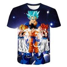 2019 Summer Kids Dragon Ball Z T Shirt 3D Print Anime Goku Vegeta T-shirts Dragonball Shirt 100% Polyester Children Clothes harajuku anime dragon ball z dbz 3d print bulma goku flying tshirt men women casual kawaii t shirt boys blue t shirt 5xl clothes
