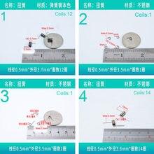 Ressort de Torsion en acier inoxydable, fil de 0.5mm, 20 pièces, partie 1