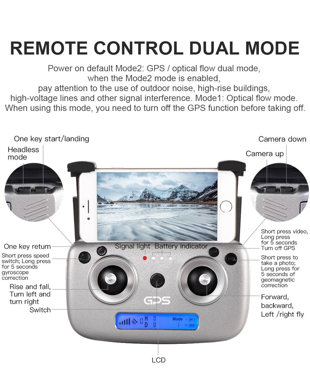 Zangão de gps do quadcopter sg907 com