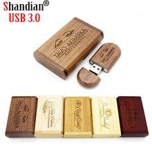 High Speed Wooden+Box USB 3.0 Flash Drive 4GB 8GB 16GB 32GB 64GB 128GB Wedding Gifts Pen Drives Photography Memory Stick U Disk