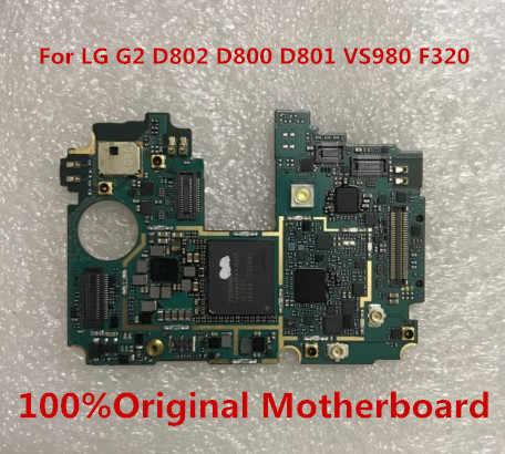 Kerja Penuh 100% Asli Dibuka untuk LG G2 D802 D800 D801 VS980 F320 Papan Utama untuk LG G2 D802 F320 D800 f320K Papan Utama